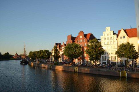 Lübeck - Blick auf die Untertrave