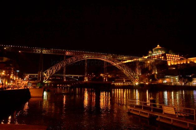 Porto - Blick über Douro auf Pont Luiz, Portugal