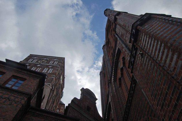 Stralsund Nikolaikirche und Rathaus